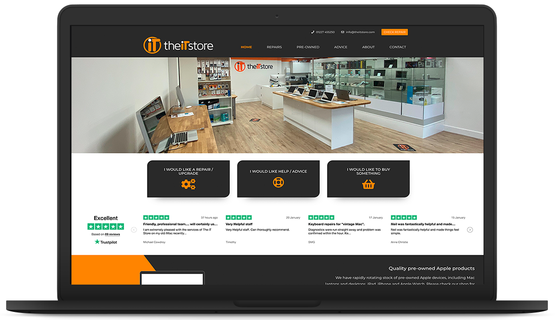 The iT Store website